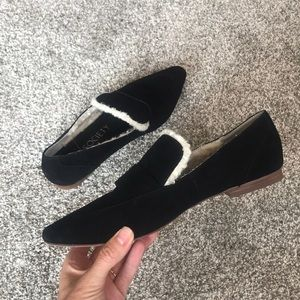 Sole Society Fuax Fur Slip On Flats